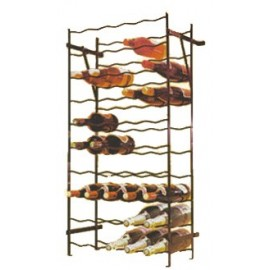 Bottle rack metal single row 100 bottles