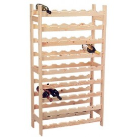 wine-rack wood for 54 bottles