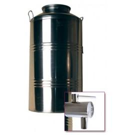Stainless steel barrel 100 l + tap