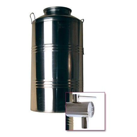 Stainless steel barrel 100 l + tap