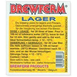 Õlle pärmi Brewferm Lager. 100 g 3-6g ühe 10L