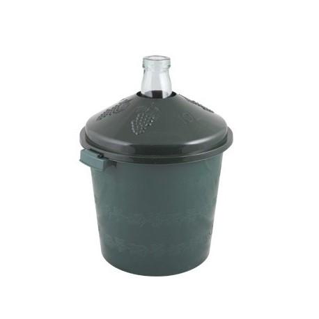 Klaasist pall rohelise korpusesse 10L