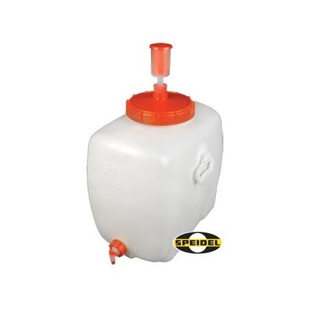 Plastic tank rect. +lid +tap 500 l