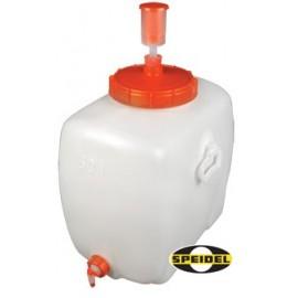 Plastic tank rect. +lid +tap 60 l