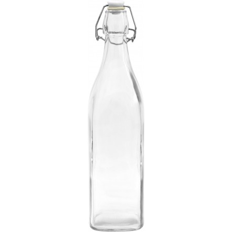 Bottle with a ceramic cork (square) 1L