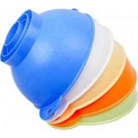 Plastmasas piltuve burkām un baloniem