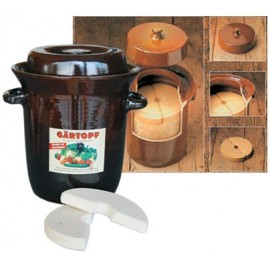 Sauerkraut crock 5L + lid/stones