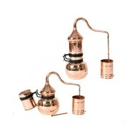 Copper Rotating Column Alembic Still 10L with built-in thermometer