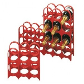 Folding rack for 6 bottles