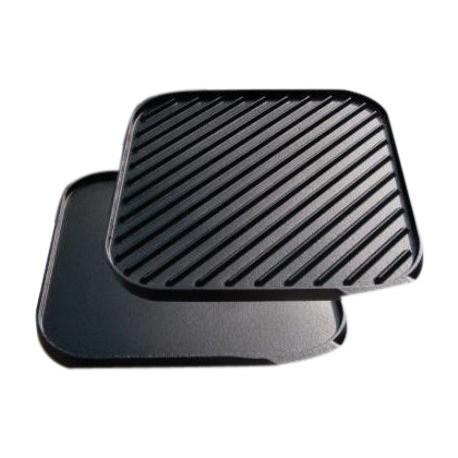 """Чугунная сковорода для гриля """"Power Pot"""" двухсторонняя (40x40см) на газовую горелку"""