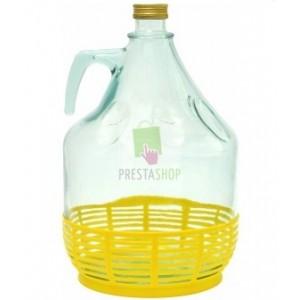 Stikla pudele 5L vīnam ar skrūvējamu