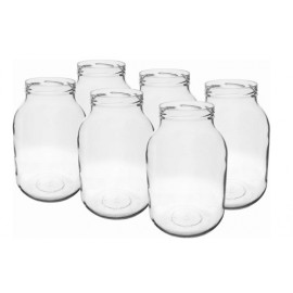 Glass jar 3L (6 pcs.) with thread (Ø100mm)