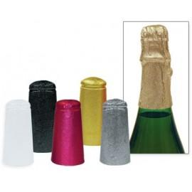 Baltas alumīnija cepurītes šampanieša pudelēm 34x90mm, 1000gb.