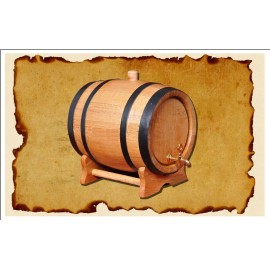 Oak barrel (10L) with crane
