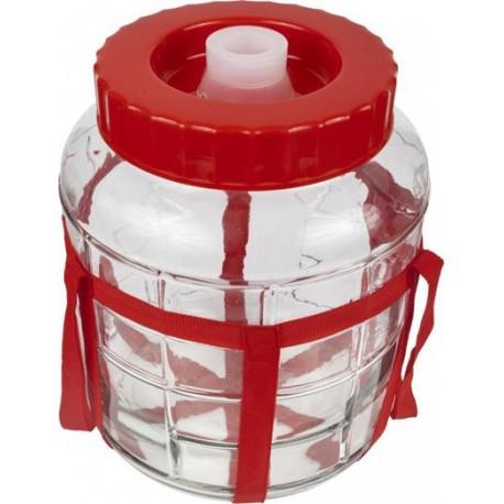 Universal glass jar with a lid 18L