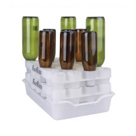 A revolutionary bottle draining & drying system