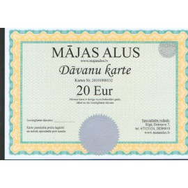 Dāvanu karte 20 EUR vērtībā