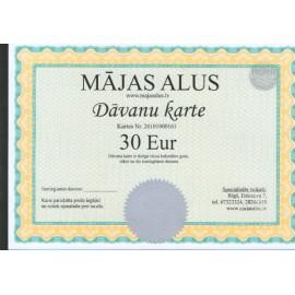 Kinkekaart 30 euro suurust väärtus