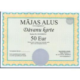 Dovanų kortelė-50 EUR vertės