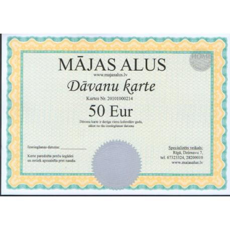 D?vanu karte 50 EUR v?rt?b?