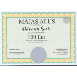Dovanų kortelė 100 eur vertės