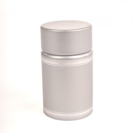Plastic lid with batcher and cap (silver)