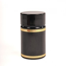 Plastic lid with batcher and cap (black)