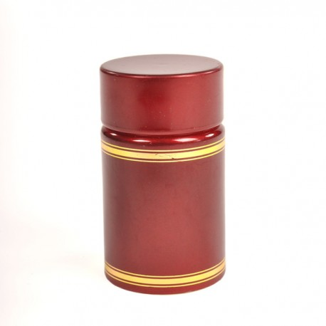 Plastic lid with batcher and cap (red)