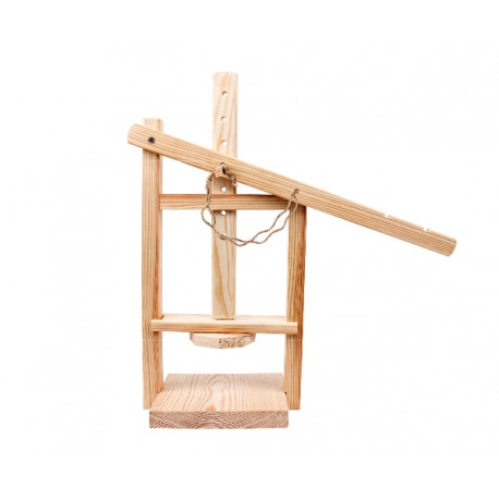 Wooden cheese press 20x16x38 cm