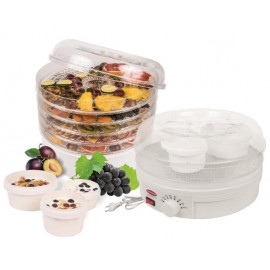 Electric food dehydrator with yogurt maker