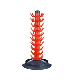 Stationary bottle dryer 80 pcs. red