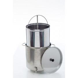 Alus darīšanas katls ar filtru 50L