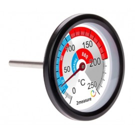 Smoking chamber and BBQ thermometer, 0?C to +250?C