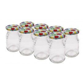 Glass jar 180ml with thread and cap Ø53мм (8 pcs.in package)