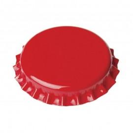 Metalo kepurės, alaus buteliai Ø26mm, 100 gb. (raudona)