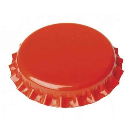 Metalo kepurės, alaus buteliai Ø26mm, 100 gb. (orange)