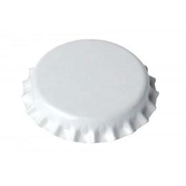 Metalo kepurės, alaus buteliai Ø26mm, 100 gb. (baltos spalvos)