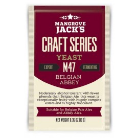 Dried brewing yeast Mangrove Jack`s Craft Series Belgian Abbey M47 10g