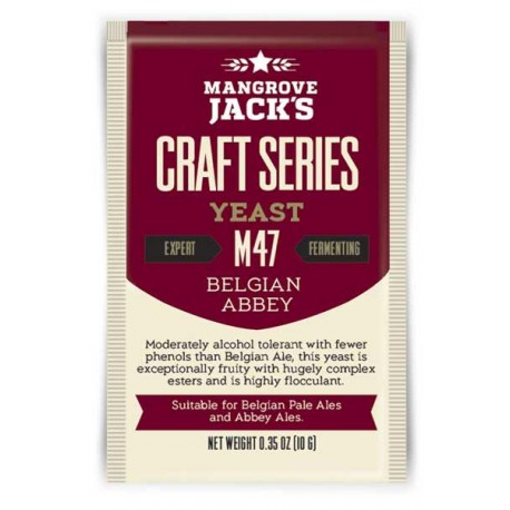 Dried brewing yeast Mangrove Jack`s Craft Series Belgian Abbey M47 10g