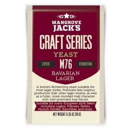 Dried brewing yeast Mangrove Jack`s Craft Series Bavarian Lager M76 10g