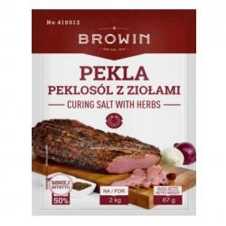 Sāls ar garšaugiem 67g. Paredzēts 2kg gaļas