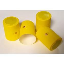 Термо-колпачки для бутылок 32x40mm с отрывной верхней частью 100шт. (желтые)