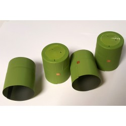 Thermo caps for bottles 32x40mm (with a tear-off top) 100pcs. (green)