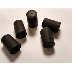 Термо-колпачки для бутылок 32x40mm с отрывной верхней частью 100шт. (черные)