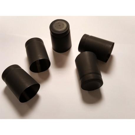 Termocepurītes pudelēm 32x40mm ar noplēšamu augšu 100gb. (melnas)