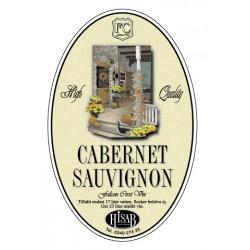 Pašlīmējošās etiķetes Cabernet Sauvignon vīnam 25gb.