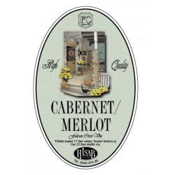 Self-adhesive label, Cabernet/Merlot, veini 25gb.