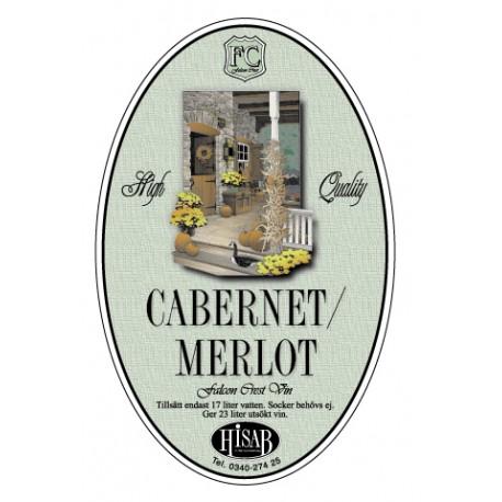 Pašlīmējošās etiķetes Cabernet/Merlot vīnam 25gb.