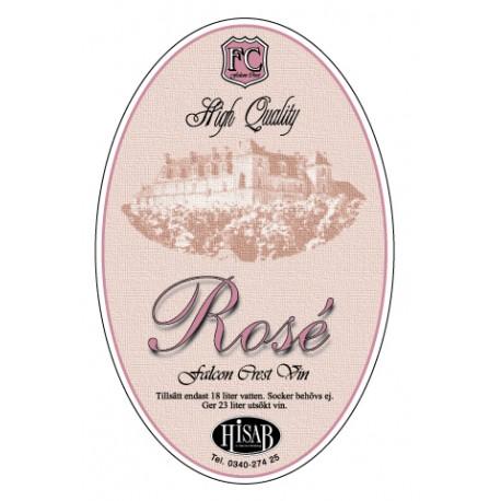 Pašlīmējošās etiķetes Rose vīnam 25gb.