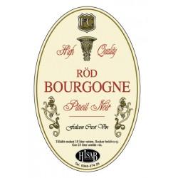 Self-adhesive label, Leiab Burgundia veini 25gb.